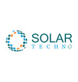 solar technology logo vector image