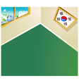 South Korean Room Background vector image vector image