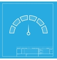 Speedometer sign White section of vector image vector image