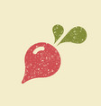 stylized flat icon of a radish vector image vector image