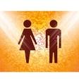 suluet men women Flat modern web button and space vector image