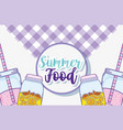 summer food and juice vector image vector image