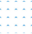 sun rise icon pattern seamless white background vector image vector image