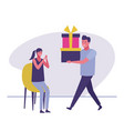 surprise birthday gift vector image