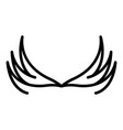 tattoo wings icon outline style vector image vector image