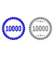 textured 10000 grunge stamp seals with ribbon vector image