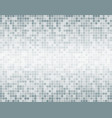 the silver grey square mosaic tiles background vector image vector image