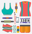Top View Runner Gears vector image vector image