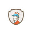Uncle Sam American Side Shield Crest vector image vector image
