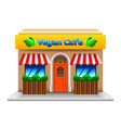 vegetarian cafe isolated on white vector image