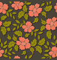 volumetric flower seamless pattern element vector image