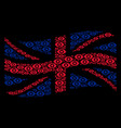 waving united kingdom flag collage of eye icons vector image vector image