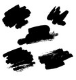 black ink stains vector image