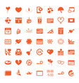 49 day icons vector image vector image