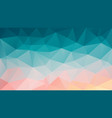 abstract irregular polygon background blue pink vector image vector image