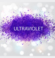 abstract ultraviolet purple grunge splashes color vector image vector image