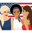 american girls vector image vector image