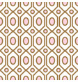 art deco geometric pattern with net gem ashapes in vector image vector image