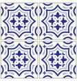 azulejo - portuguese tile design seamless vector image vector image