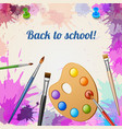 back to school realistic poster vector image vector image