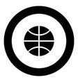 basketball ball icon black color in circle vector image