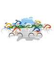 bicycle race at full speed vector image vector image