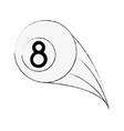 billiard eight ball vector image