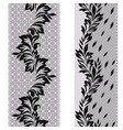 black and white lace vertical seamless pattern vector image vector image