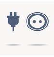 blue plug and socket icons Single flat icon on vector image