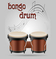 bongo drums musical instruments stock vector image vector image