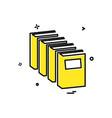 books icon design vector image vector image
