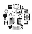 business office icons set simple style vector image vector image