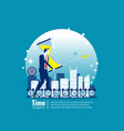 business time management concept business vector image vector image