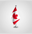 canada flag design vector image
