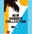 card with lettering new summer collection in vector image vector image