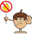 Cartoon acorn vector image vector image
