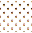 cherry cupcake pattern vector image vector image