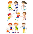 Children playing different sports vector image vector image
