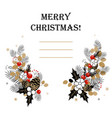 christmas background christmas frame made of fir vector image vector image