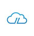 cloud with arrow icon vector image vector image