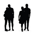 couple silhouette set in black color vector image vector image
