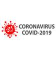 covid19-2019 coronavirus logo vector image vector image