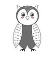 cute and tender owl vector image