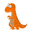 cute cartoon t-rex of vector image