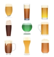 Different kind of beer collection set Beer vector image vector image