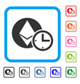 ethereum credit time framed icon vector image vector image