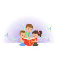 excited little kids boys and girl looking at vector image vector image