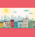 flat style modern city landscape vector image vector image