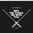 Greeting card for birthday with crossed laser vector image