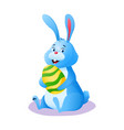 happy bunny cute smiling cartoon easter rabbit vector image